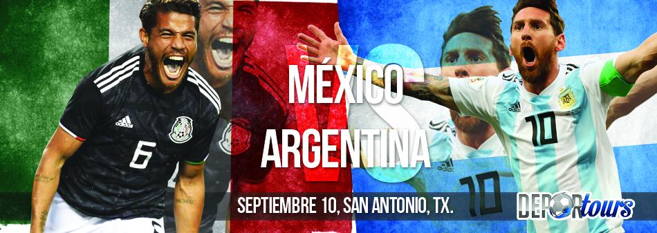 Paquete Mexico vs Argentina