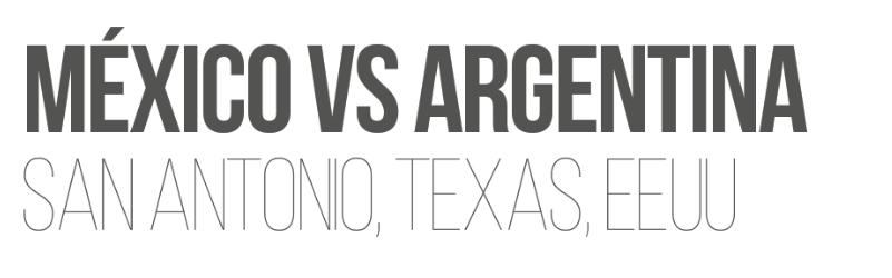 Paquete Mexico Argentina Futbol TRI San Antonio
